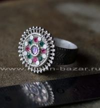 Старое афганское кольцо с солярной символикой