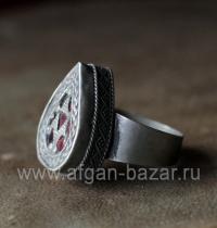 Афганский перстень в казахском стиле