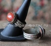 Афганский племенной перстень с сердоликом (Kuchi Tribal Ring)