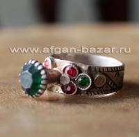 Винтажное афганское племенное кольцо, племенные украшения Кучи