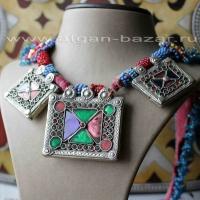 Старое афганское племенное колье,  украшения Кучи (Kuchi Tribal Jewelry)