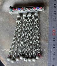 Афганская подвеска-трубочка, часть ожерелья. Афганистан, 20-й век, племенные укр