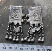 Традиционный афганский сдвоенный амулет - Тавиз, подвеска - деталь налобного укр