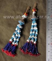 Две бисерные плетеные подвески - детали костюма. Пакистан, племена кучи, 20-й ве