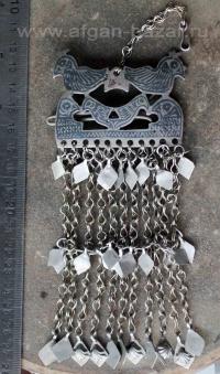 Заколка, височное украшение с изображением птиц. Афганистан, 20-й век, племенные