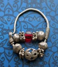 Старинная серьга для носа.  Афганистан, 19-й, начало 20-го века - племена Кучи (