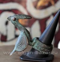 Кольцо с фигуркой птицы. Западная экваториальная Африка