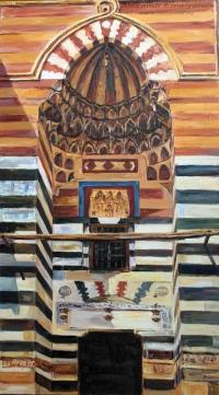 Александр Емельянов. Портал медресе Аль-Ашрафия, Каир. Холст, масло