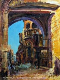 Александр Емельянов. Каир, ворота Баб Зувейла. Холст, масло
