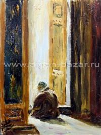 Александр Емельянов. Dua (молитва в мечети Султан Селим). Оргстекло, масло