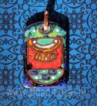 """Александр Емельянов. кулон """"Золото"""" (древнеегипетский амулет). Медь, горячая пер"""