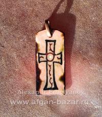 Реплика-реконструкция средневекового византийского креста с горячей эмалью