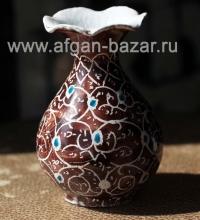 """Миниатюрная вазочка в технике традиционной иранской горячей расписной эмали """"Мин"""