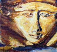 Александр Емельянов. Богиня Хатхор. Оргалит, масло