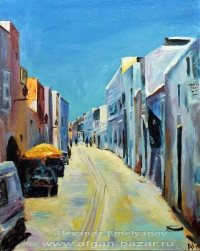 Александр Емельянов. Улица в Кайруване, Тунис