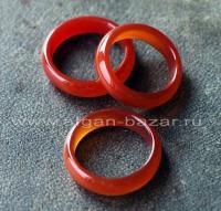 Кольцо из натурального сердолика
