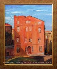 Александр Емельянов. Красный дом (Стамбул) Оргалит, масло