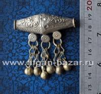 Старая афганская бусина ручной работы. Афганистан или Пакистан, племена кучи, 20