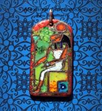 """Александр Емельянов. Кулон в древнеегипетском стиле """"богиня Сехмет"""". Медь, горяч"""