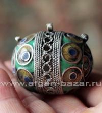 """Традиционная марокканская бусина - коннектор """"Тагамут"""" (Tagamouth) с горячей эма"""