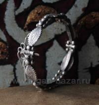"""Старый марокканский браслет """"Mizam"""". Западная Сахара, Мавритания или юг Марокко"""