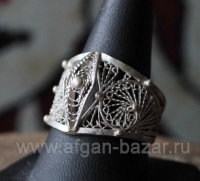 Марокканское филигранное кольцо. Марокко, Эссуэйра, современная работа