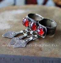 Берберский перстень на два пальца. Марокко, берберы, 20-й век