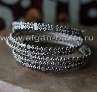 Набор берберских браслетов (7 штук) на узкое запястье.  Западная Сахара (Юг Маро
