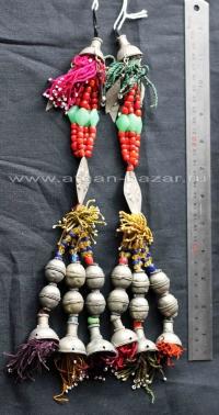 Племенные накосные подвески в туркменском стиле