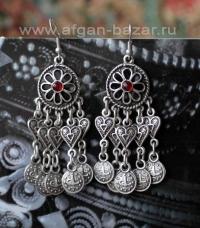 Турецкие серьги в стиле Трайбл