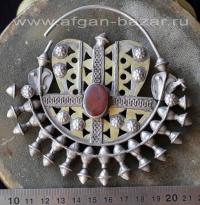 """Старинная туркменская серьга - височная подвеска """"Гулакхалка"""""""