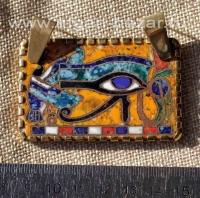"""Подвеска """"Пектораль Тутанхамона"""", горячая перегородчатая эмаль, автор - Александ"""