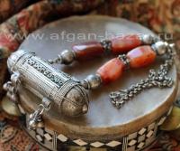 """Старое бедуинское колье-амулет """"Хырз"""" (Hirz). Йемен, середина 20-го века"""