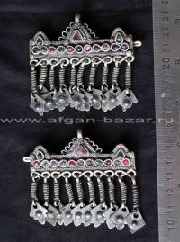 Заколки для волос - племенные украшения Кучи (Kuchi Jewelry) - пара