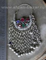 Афганская племенная серьга (без пары). Афганистан, 20-й век, племенные украшения