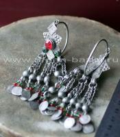 Афганские племенные серьги в стиле Трайбл (Kuchi jewelery)