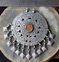 Старая афганская подвеска-амулет - племенные украшения Кучи. Кашмир, 20-й век