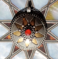 Туркменская подвеска с сердоликом Pendant in Kazakh style with aqeek carnelian.