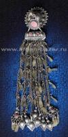 Афганская этническая подвеска - височное украшение (Afghan Kuchi tribal temple