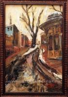 Александр Емельянов. Divan Yolu (Стамбул). Холст на картоне, масло