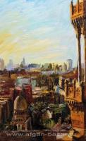 Александр Емельянов. Каир, вид с ворот Баб Зувейла фанера, масло
