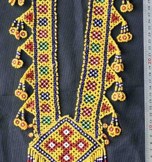 Афганское колье из бисера