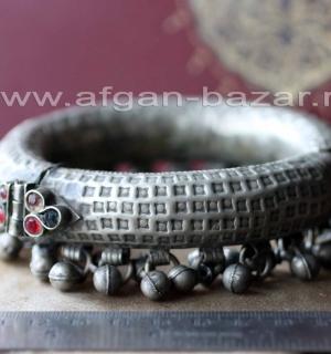Афганский ножной  браслет с бубенчиками