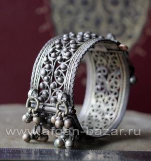 Старый афганский браслет с филигранью. Афганистан, середина 20-го века, племенны