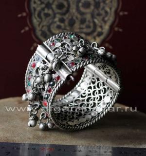Традиционный афганский браслет с бубенчиками. Афганистан или Кашимр, вторая поло