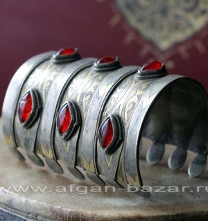 Туркменский браслет традиционной формы. Афганистан, начало 20-го века