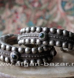 """Пара традиционных афганских браслетов """"Чури"""". Cеверо-западный Пакистан, долина К"""
