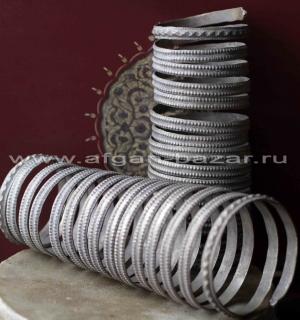 Пара Афганских племенных браслетов. Афганистан или Северо-западный Пакистан (Нур