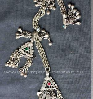 Афганская старинная подвеска - племенное украшение-амулет Dugmaband