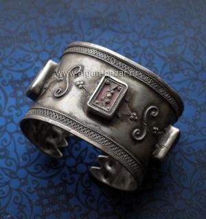Серебряный афганский браслет в казахском стиле. Афганистан, вторая половина 20-г